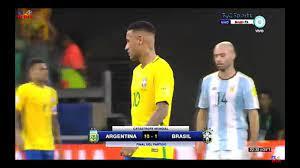 اكبر هزيمه في تاريخ البرازيل من الأرجنتين 1:10 وبكاء نيمار وفرحه مسي ملخص  المباراه - YouTube