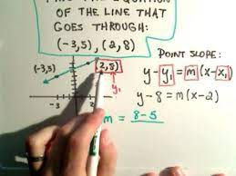 y y1 m x x1 find the equation of a