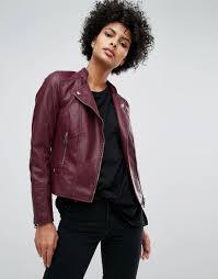 vero moda leather look biker jacket from asos