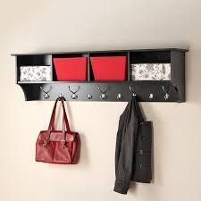 prepac furniture black 9 hook wall mounted coat rack