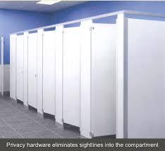public bathroom partition hardware.