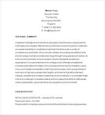 Sample Resumes For Retail Retail Sales Resume Sample Regarding