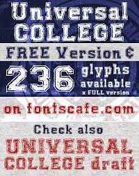 collage fonts free universal college windows font free for personal