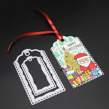 Tag Shape Template Gowing Cutting Dies Suitcase Tag Shape Carbon Steel Metal Cutting