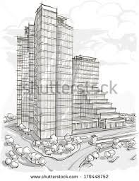 architectural building sketches. Architecture. Sketch. Drawing Of Building.City Architectural Building Sketches C