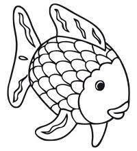 Kleurplaat De Mooiste Vis Van De Zee Coloring Pages Rainbow Fish
