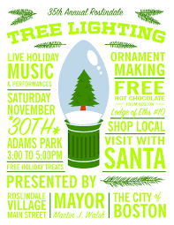 Small Business Lighting Roslindale Tree Lighting And Small Business Saturday
