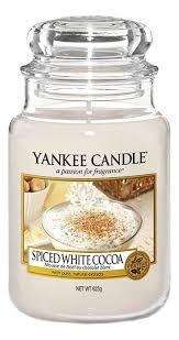 <b>Ароматическая свеча Spiced White</b> Cocoa: Свеча 623г Yankee ...