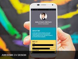 App Resume Create Your Portfolio Cv Or Resume Android Mobile App By Kimsean
