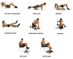 get all these great workouts plus cardio sit ups crunches push ups bridge scissor kicks forearm biceps