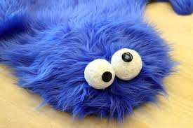sesame street diy cookie monster rug pillows mikeasaurus