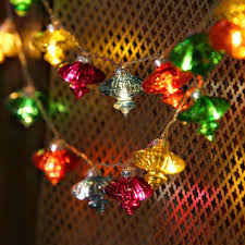 decorative string lighting. lightscom string lights decorative vintage multicolor glass lantern battery strand of 24 lighting