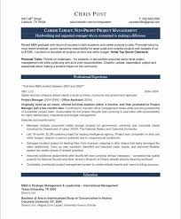 Sample Cover Letter For Resume Project Manager Vast Non Profit