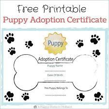 Pet Adoption Certificate Template Adoption Certificate Template Templateez Cf