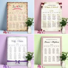 Personalised Wedding Table Plan Table Planner Seating Plan Amazon