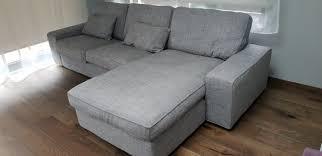 ikea kivik 3 seat corner sofa chaise