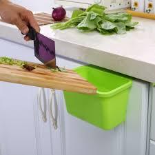 kitchen cabinet door plastic basket hanging trash can waste bin garbage bowl box 7