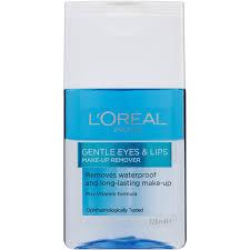 l oreal paris gentle eyes lips waterproof make up remover 125ml