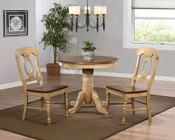 sunset trading 3pc brook 36 round dining set with napoleon chairs sunset trading