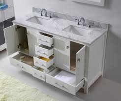 60 Bathroom Cabinet Virtu Usa Caroline Avenue 60 Double Bathroom Vanity Set In White