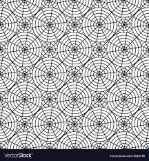 Spider Web Pattern Interesting Design Seamless Monochrome Spider Web Pattern Vector Image