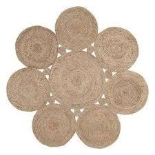 drusilla natural 4 ft x 4 ft round area rug