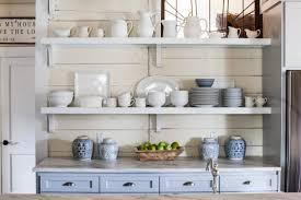 Open Shelf Design For Kitchen Open Shelving Kitchen Corner Shelves Above Island Shelf