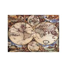 High Quality World Map 1000pc Jigsaw The World Map Made From High Quality European Blue Board