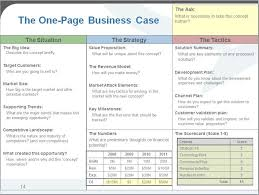 One Pager Project Template Business Case One Page Template One Page Business Case