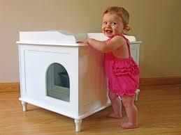 the designer catbox litter box enclosure in white catbox litter box enclosure