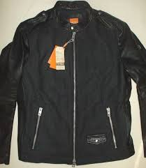 hugo boss mens wool leather jacket orange rock tailoring nwt biker jacket 46r