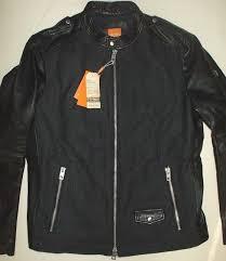 nwt mens hugo boss orange wool leather jacket biker jacket rock tailoring 46r