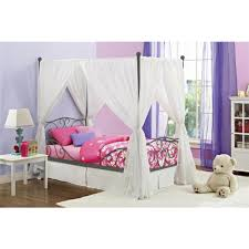 DHP Pewter Twin Canopy Bed 4020959 - The Home Depot