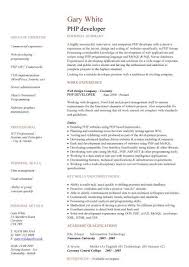 PHP developer CV sample, areas of expertise, web design jobs, CV writing,  jobs, CVs