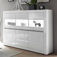Modern Buffetkast Cogo 61 In Hoogglans Wit Incl Led