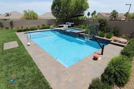 Play Swimming Pool Designs Linear Sport Pool With Raised Spa Has Plenty Of Room To Swim