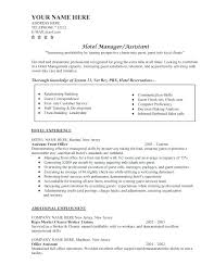 Sample Resume Objectives Hospitality Resume Objective For Job Hotel Sample J 81