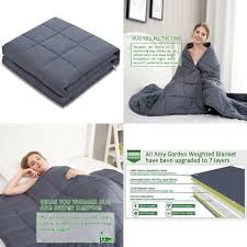 details about amy garden weighted blanket 60 x80 15 lbs for 140 150 lbs individual grey