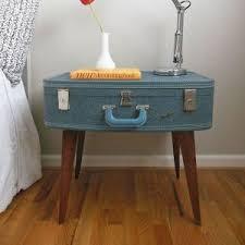 vintage suitcase diy nightstand