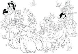 Princess Printables Coloring Pages Princess Printable Coloring Pages