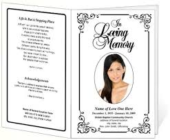Free Funeral Program Templates Download Classy Cadence Letter Single Fold Program Template Obit Pinterest