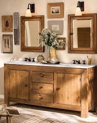 a bathroom thats rustic chic and features our stella bath collection potterybarn awesome pottery barn bathroom vanity decor