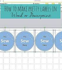 How To Make Pretty Labels In Word Or Powerpoint Bubbablue