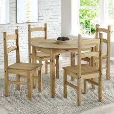 Oak Kitchen Table 4 Chairs Round And Uk Good Looking Small Dining