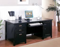 tribeca loft black double pedestal computer desk desks desks office desks and lofts