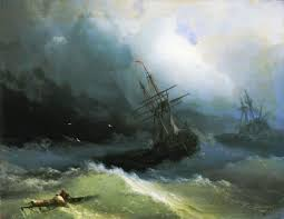 ships at the raging sea 1866 jpg