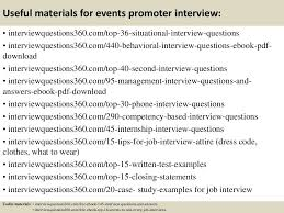 Situational Based Interview Questions Useful Materials For Events Promoter Interview