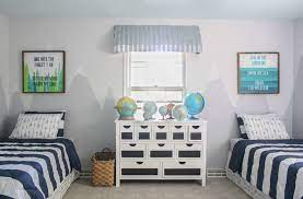A boy's bedroom is the perfect place to let some creativity loose and showcase his unique personality. Boys Shared Bedroom Reveal Lovely Etc