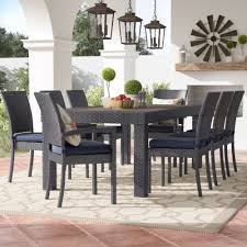 three posts evansville 9 piece outdoor dining set with cushion u0026 reviews wayfair piece patio dining set d83