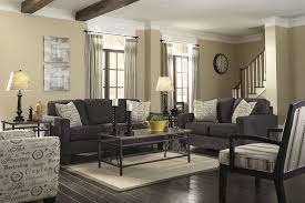 dark gray living room furniture. Furniture, Awesome Modern Charcoal Sofa Living Set On White Rectangular Carpet And Dark Laminate Wood Flooring In Gray Room Painted Decoration Ideas: Furniture D